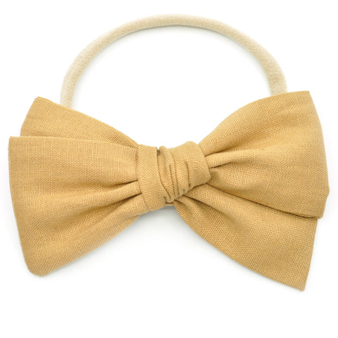 Camel Brown Linen Rona Bow