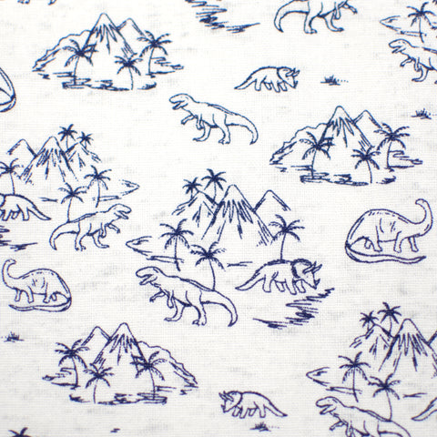 Navy Dinosaurs & Volcanoes Bow Tie OR Anna Bow
