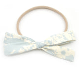 Stonewashed Leni Bow, Infant or Toddler Hair Bow