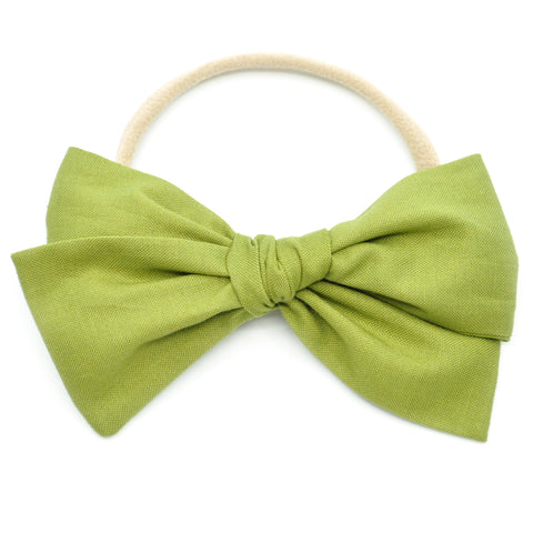 Olive Green Rona Bow