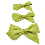 Olive Green Evy Bow, Newborn Headband