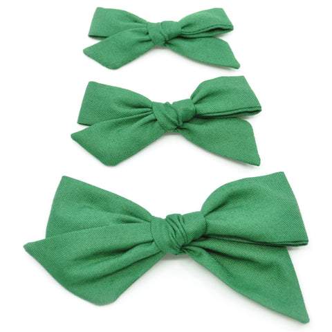 Evergreen Evy Bow, Newborn Headband or Clip