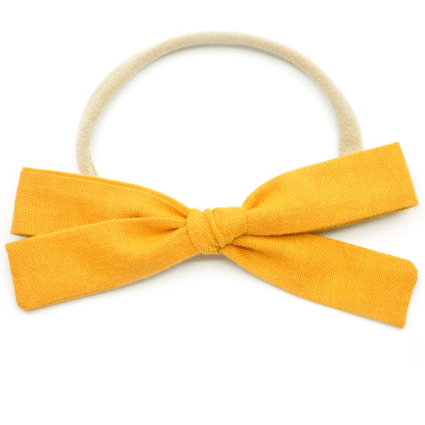 Mustard Leni Bow, Headband or Clip