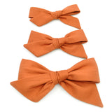 Burnt Orange Evy Bow, Newborn Headband