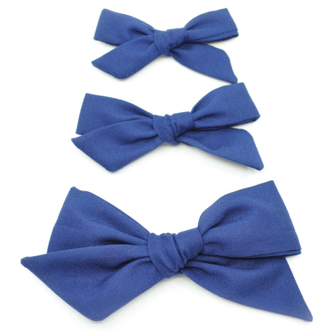 Midnight Blue Evy Bow, Newborn Headband or Clip