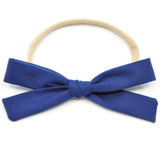 Midnight Blue Leni Bow, Headband or Clip