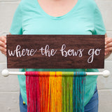 Rainbow Bow Hanger, Customizable Bow Holder