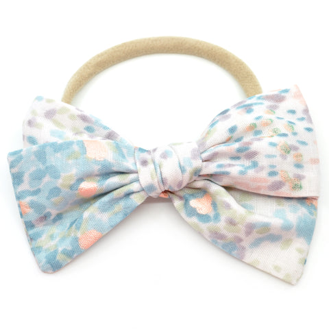 Winter Watercolor Dot Double Gauze Rona Bow