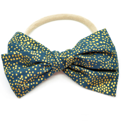 Rifle Paper Co Gold Polka Dots in Hunter Rona Bow