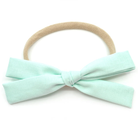 Winter Mint Leni Bow, Infant or Toddler Hair Bow