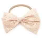 Champagne Lace Rona Bow