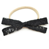 Black Lace Leni Bow, Infant or Toddler Hair Bow