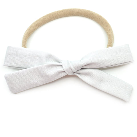 Silver Leni Bow, Infant or Toddler Hair Bow