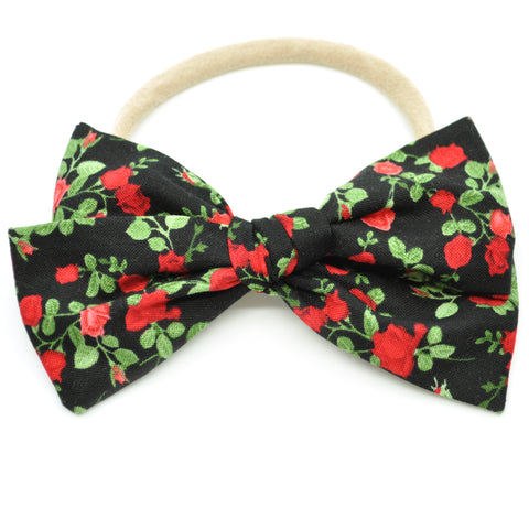 Black & Red Roses Rona Bow