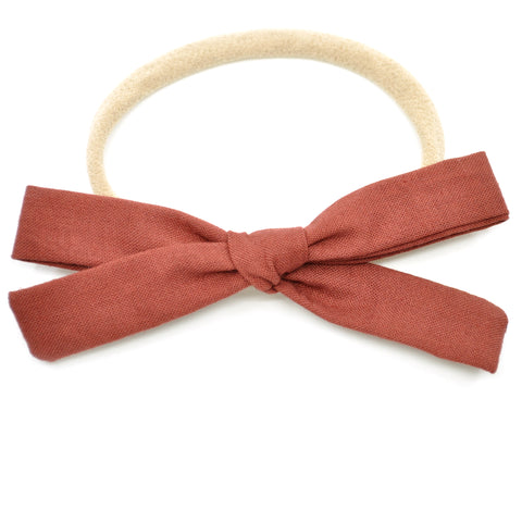 Gingerbread Leni Bow, Infant or Toddler Hair Bow