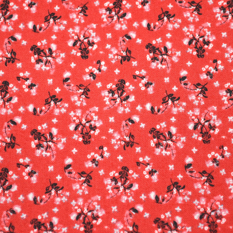 Patriotic Red Floral Bow Tie OR Anna Bow
