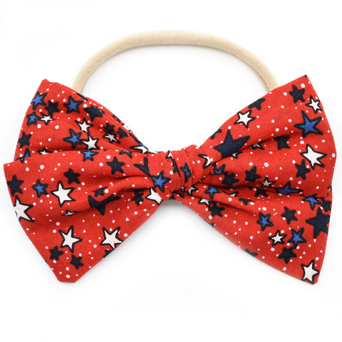 Red Stars & Dots Rona Bow
