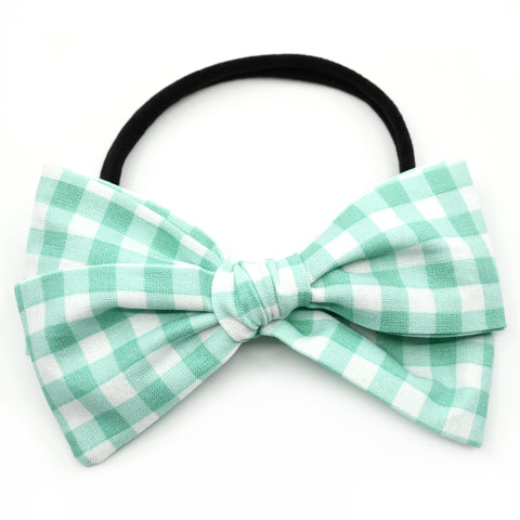 Mint Gingham Rona Bow