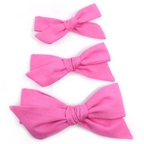 Pink Taffy Evy Bow, Newborn Headband or Clip
