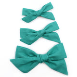 Jade Green Evy Bow, Newborn Headband or Clip
