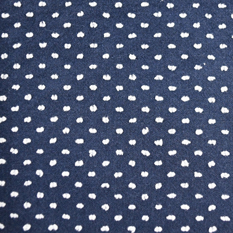 Navy Blue & White Swiss Dot Bow Tie OR Anna Bow