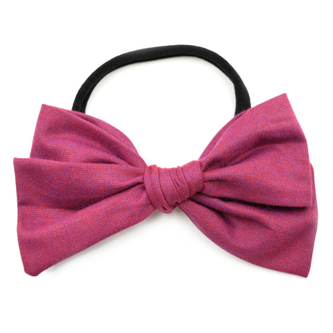 Berry Chambray Rona Bow