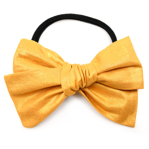 Metallic Mustard Rona Bow