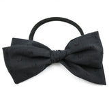 Black Swiss Dot Rona Bow