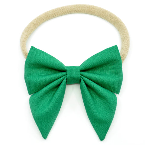 Emerald Green Elle Bow, Toddler Hairclip
