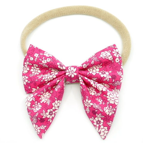 Fuchsia Floral Elle Bow, Toddler Hairclip