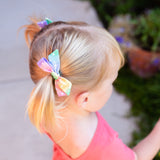 Metallic Watercolor Floral Evy Bow, Newborn Headband or Clip