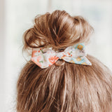 Vintage Ivory, Blue, & Rust Floral Evy Bow, Newborn Headband or Clip