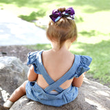 Purple Floral Rona Bow