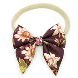 Mulberry Floral Elle Bow, Toddler Hairclip