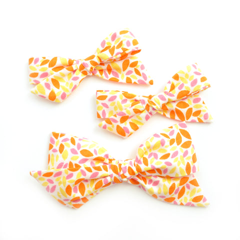 Neon Orange, Yellow, and Pink Petals Evy Bow