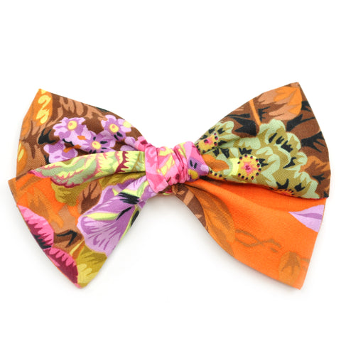 Orange, Neon Purple, Pink, & Green Floral Rona Bow