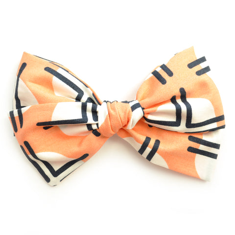 Geometric Peach Rona Bow