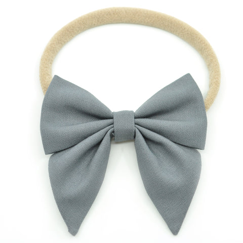 Pewter Elle Bow, Toddler Hairclip