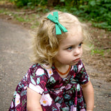 Peach & Black Peaks  Leni Bow, Infant or Toddler Hair Bow