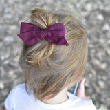 Anchor Gray Evy Bow, Newborn Headband or Clip