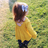 Orange Elle Bow, Toddler Hairclip