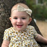 Charcoal Harvest Floral Leni Bow, Headband or Clip
