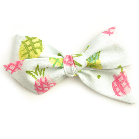 Neon Pineapple Large Evy Bow