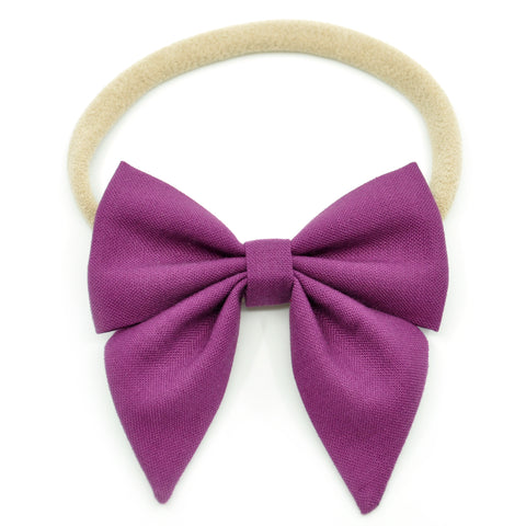 Plum Purple Elle Bow, Toddler Hairclip