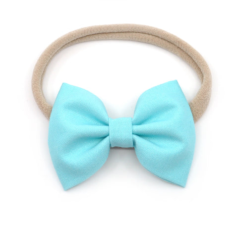 Robin's Egg Blue Belle Bow, Classic Hairbow