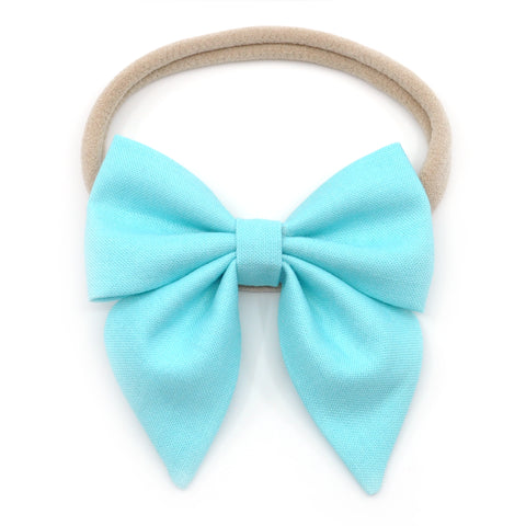 Robin's Egg Blue Elle Bow, Toddler Hairbow