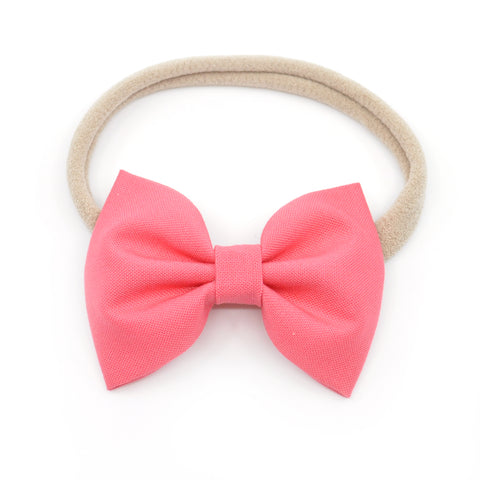 Watermelon Pink Belle Bow, Classic Hairbow