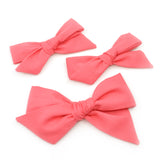 Watermelon Pink Evy Bow, Newborn Hairbow