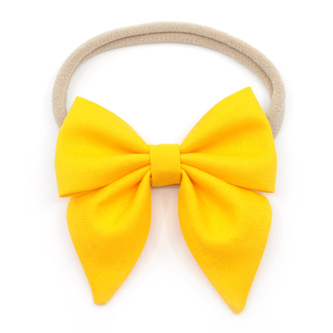 Bumblebee Yellow Elle Bow, Toddler Hairclip