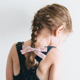 Geometric Mustard Leni Bow, Headband or Clip